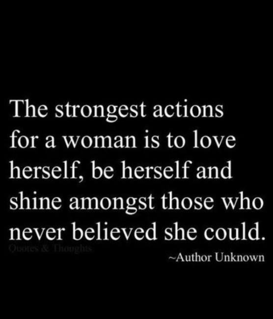 strongest actions woman love herself